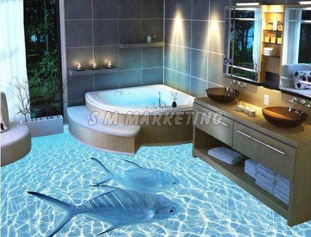 3D Amazing Bathroom Floor Tile