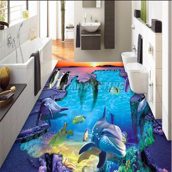3D Bathroom Floor Tile