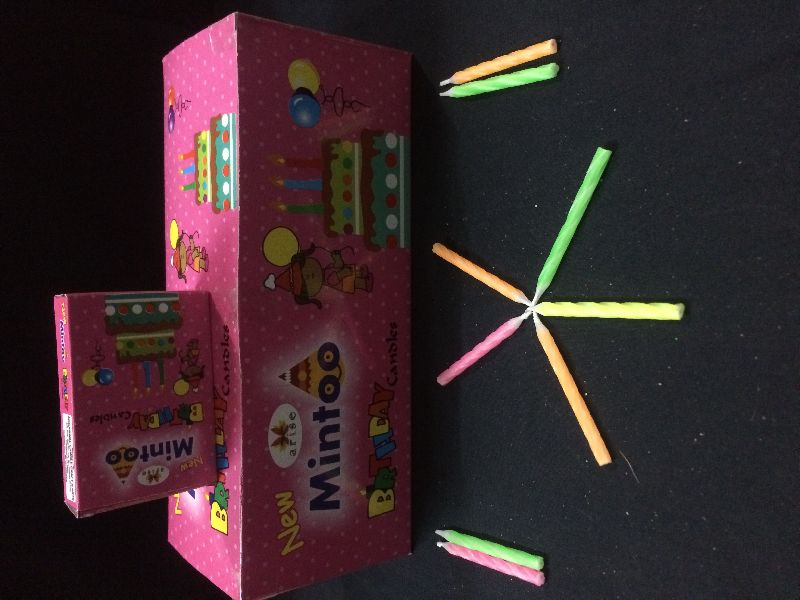 Mintoo Pink birthday candle