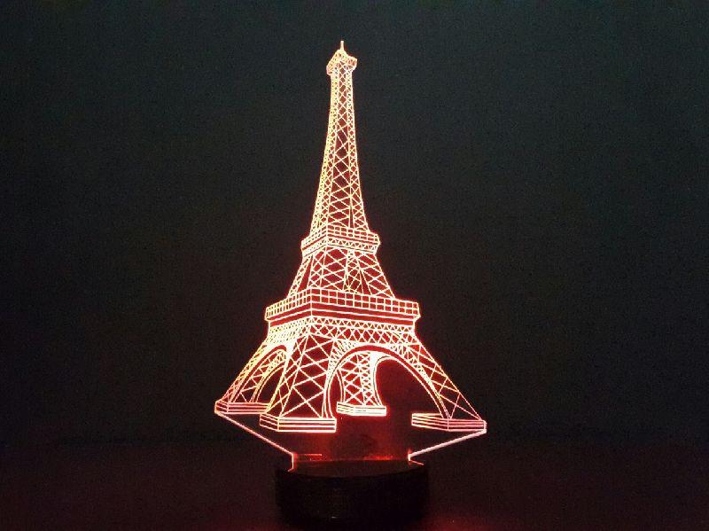 Eiffel Tower 3D Illusion Lamp 01