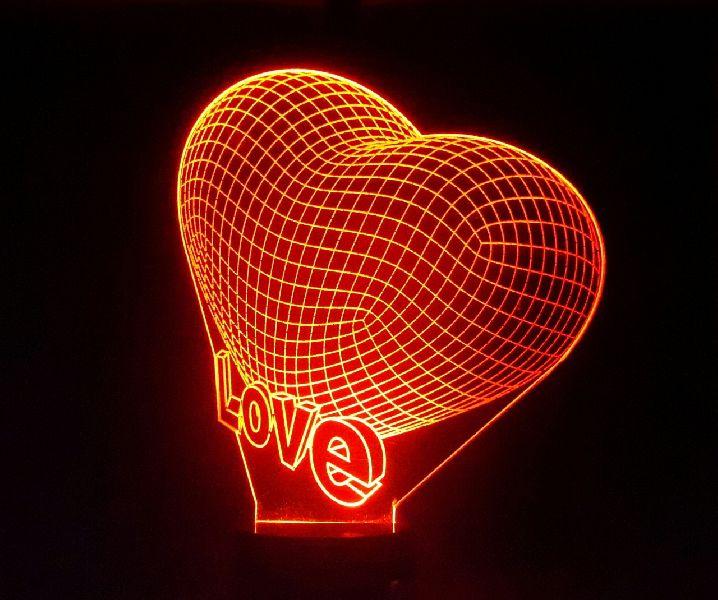 Love 3D Illusion Lamp 01