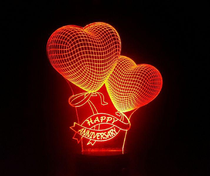Love 3D Illusion Lamp 02