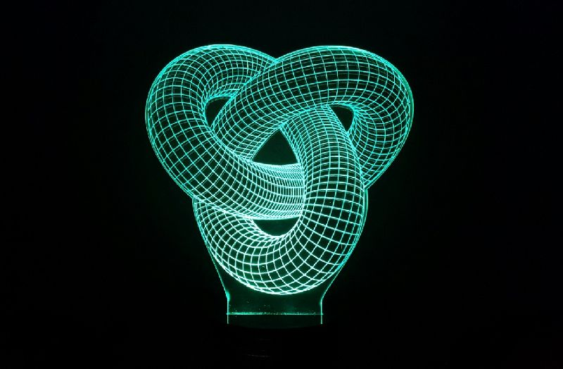 Love Knot 3D Illusion Lamp 01