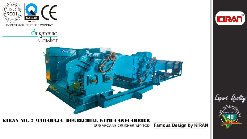 Sugarcane Crusher (Kiran No. 7 Doublemill with Cane Carrier)