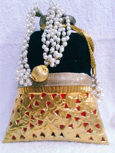 Brass Cutwork Jali Potli Purse 01