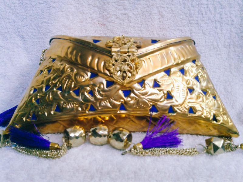 Brass Cutwork Jali Purse 01