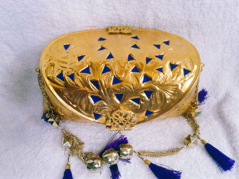 Brass Cutwork Jali Purse 02