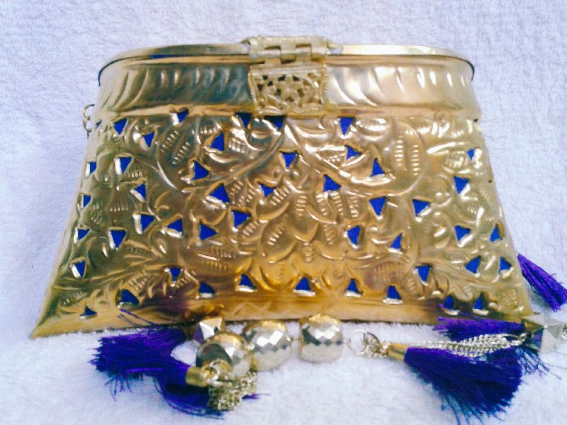 Brass Cutwork Jali Purse 03