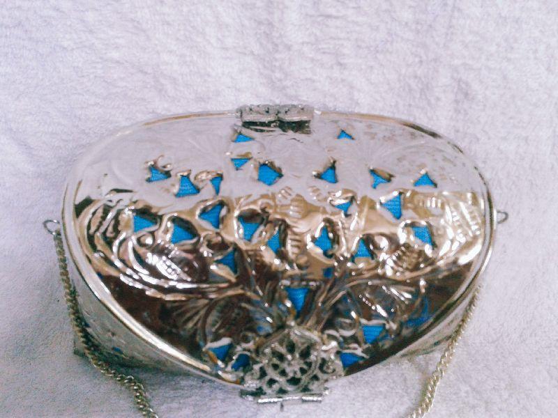 Brass Cutwork Jali Silver Purse 02