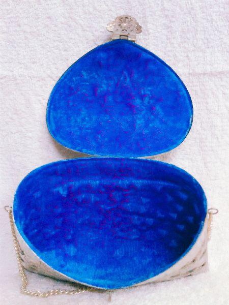Brass Cutwork Jali Silver Purse 04