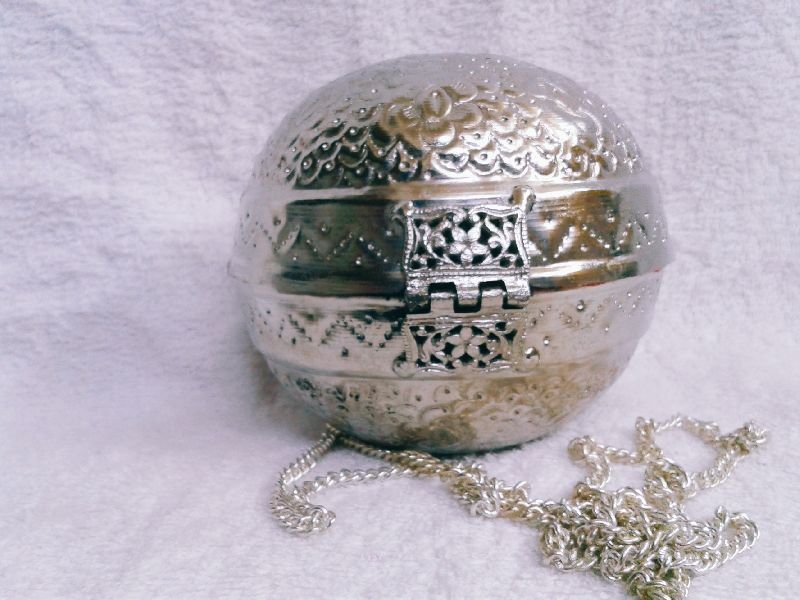 Brass Embossed Ball Purse 03