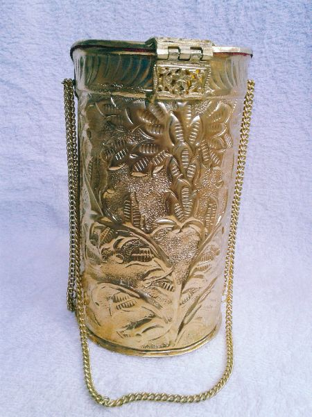 Brass Embossed Long Shape Purse 03