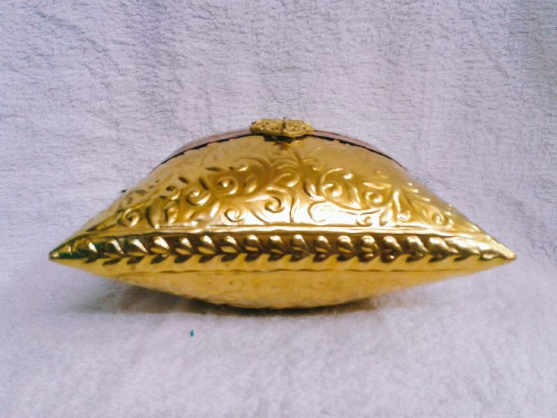 Brass Embossed Pillow Purse 01