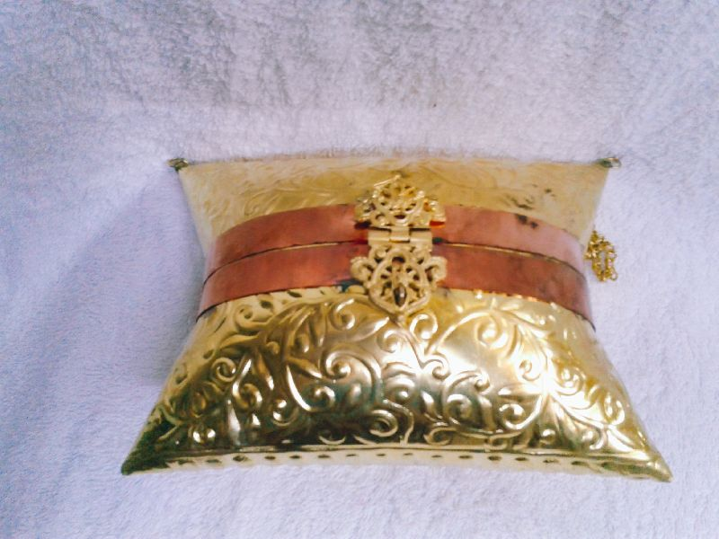 Brass Embossed Pillow Purse 02