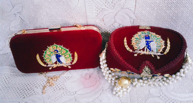 Peacock Embroidered Clutch Purse 02