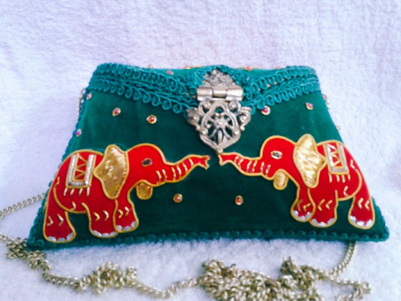 Zari Embroidery Clutch Bag  01