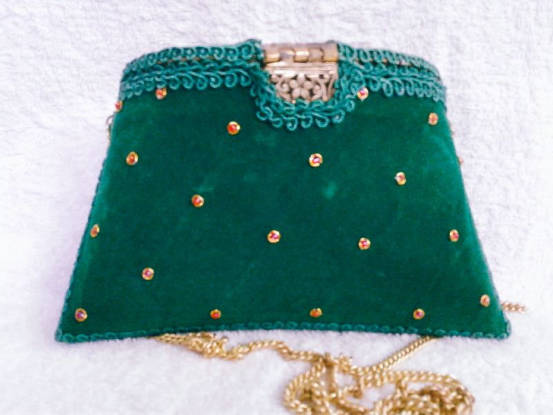 Zari Embroidery Clutch Bag 03