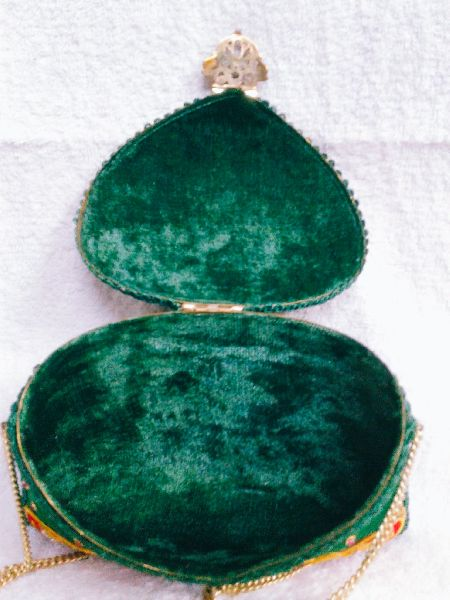 Zari Embroidery Clutch Bag 04