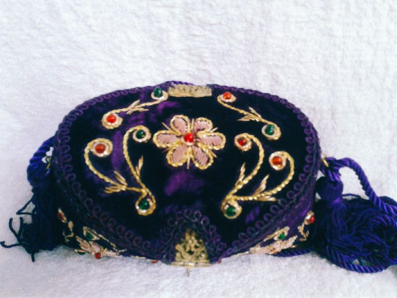 Zari Embroidery Flower Clutch Purse 02