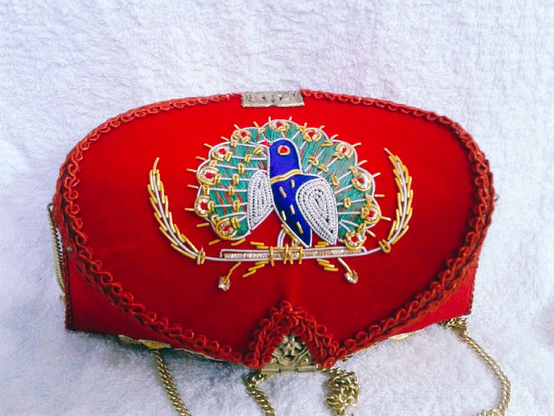 Zari Peacock Clutch  Purse