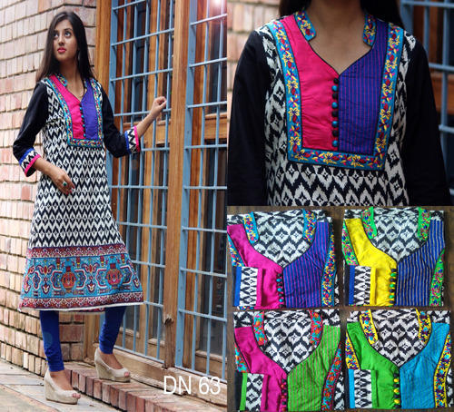 Jaipuri Embroidered Cotton Kurtis