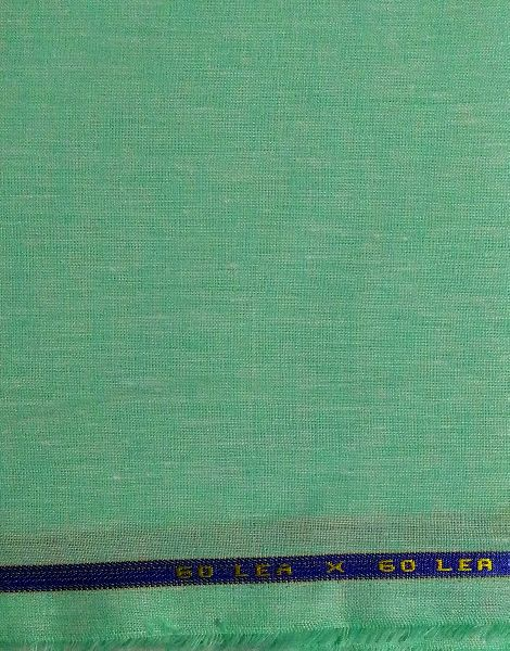 NS Fabric Green 100% Pure Linen Lea 60*60 Fabric Unstitched Fabric
