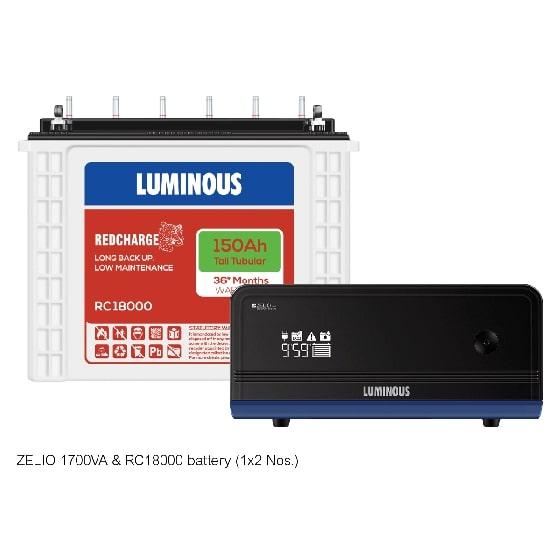 1500VA Zelio+ 1700 & 150 Ah RC18000 Home UPS & Batteries Combo Set
