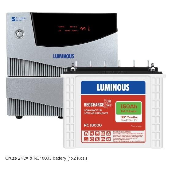 2 kVA Cruze+ & 150 Ah RC18000 Home UPS & Batteries Combo Set