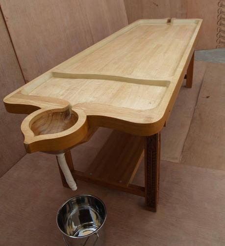 2250 A Wooden Massage Cum Shirodhara Tables