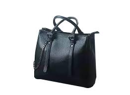 Black leather Evening Bag