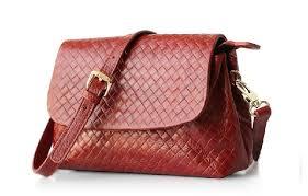 Leather Weave Side Bag