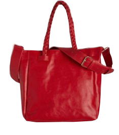 Red Crossbody Leather Bag