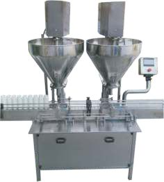Double Head Powder Filling Machine