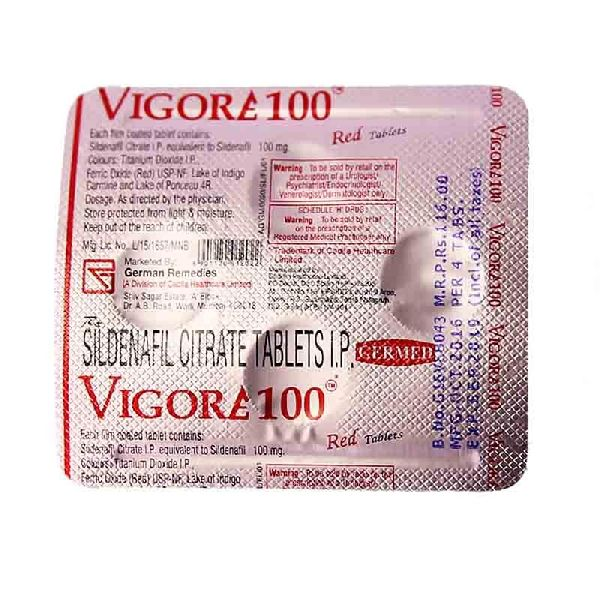 Vigora 100 Mg Tablets