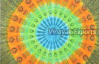 Mandala Feather Printed Tapestry