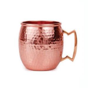 Hammered Pure Copper Mug
