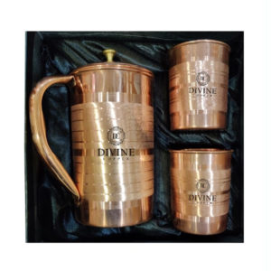 Luxury Copper Jug with 2 Glass