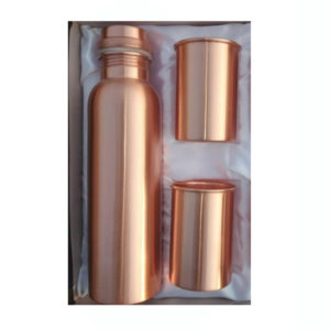 Q7 Copper Water Bottle with 2 Glass