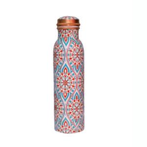 Q7 Meena Print Copper Water Bottle
