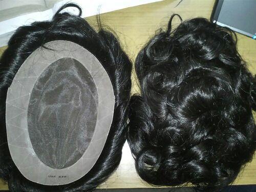 Mens Medium Size Monofilament Hair Wigs