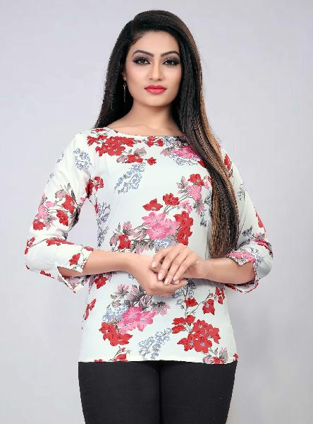 101-4 Fancy Printed Top