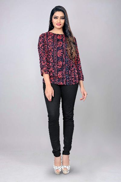 1012 Fancy Printed Top