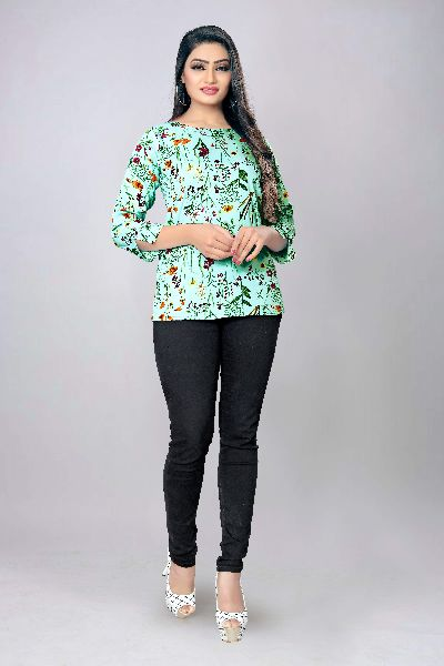 1014 Fancy Printed Top