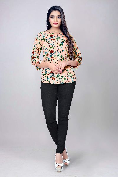 1020 Fancy Printed Top
