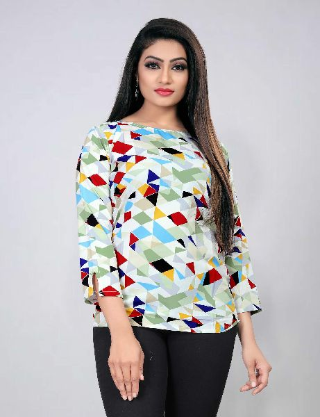 104-4 Fancy Printed Top