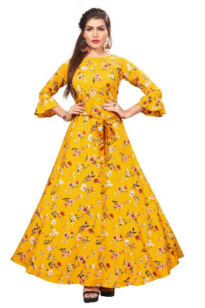 G-151 Printed Designer Gown