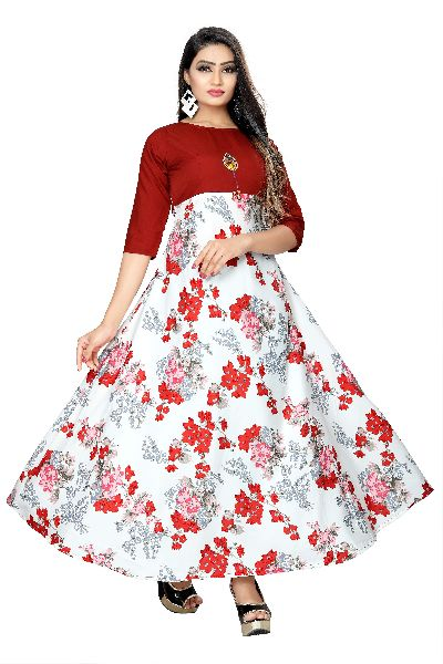 GW01 Printed Designer Gown