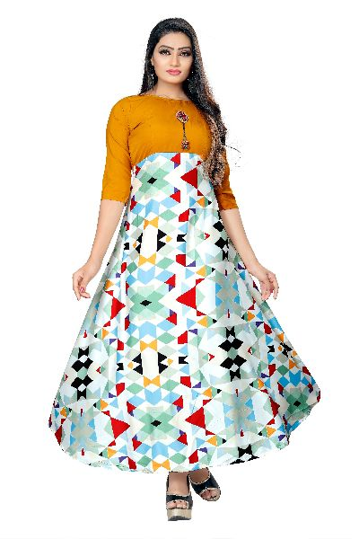 GW04 Printed Designer Gown