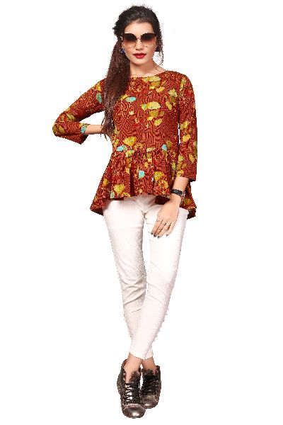 TP-153 Fancy Printed Top