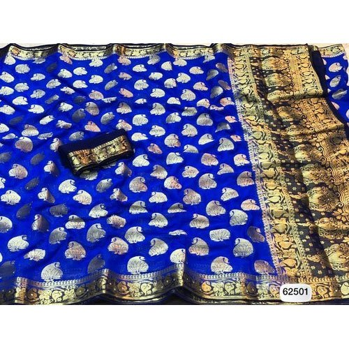 Fancy Blue Color Saree